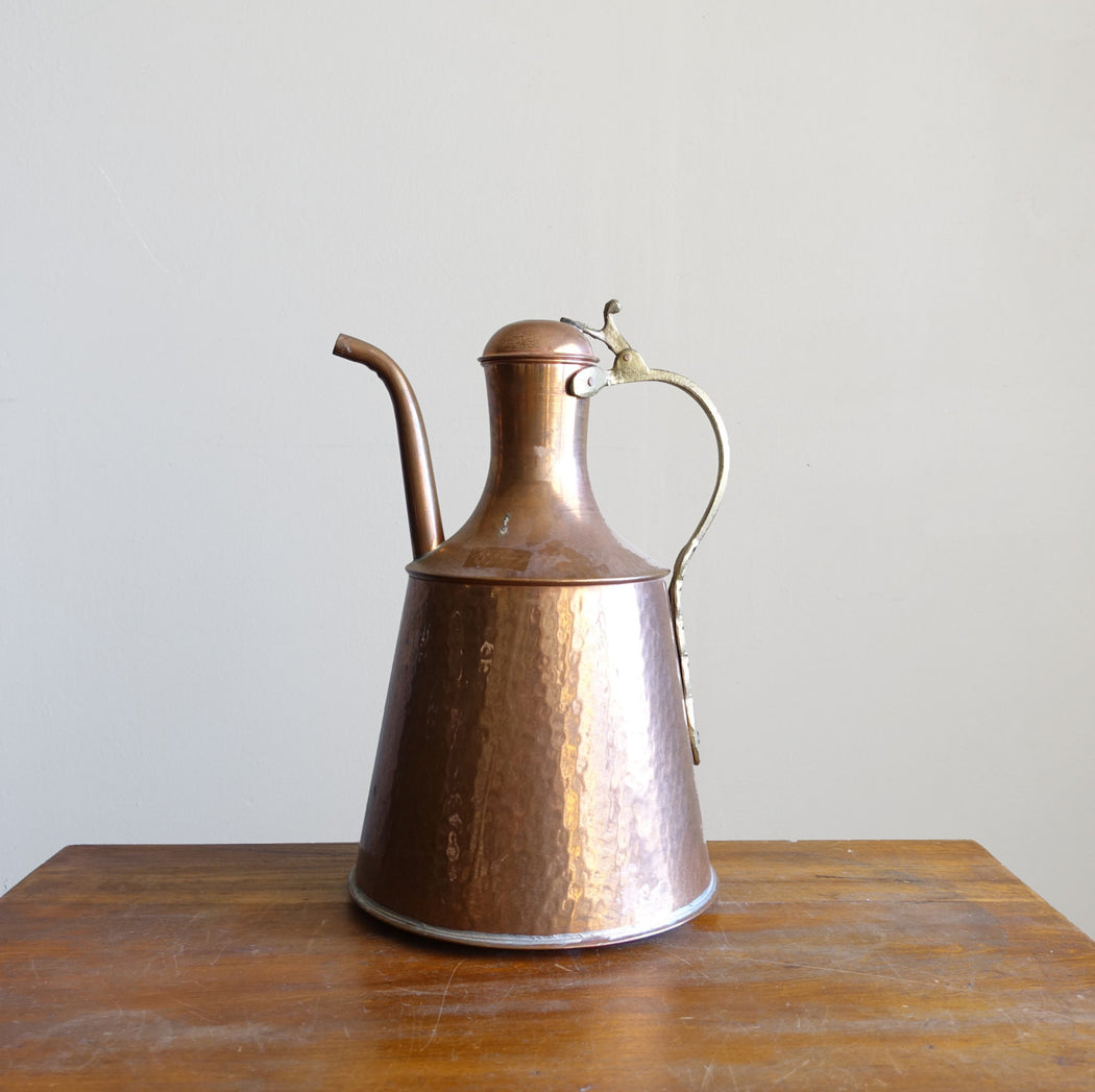 Vintage Hammered Copper Pitcher