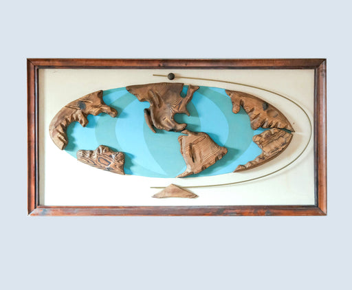 Mid Century Witco World Map Art