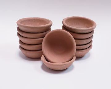 CREATIVE CO-OP Terra Cotta Bowls, 2.25