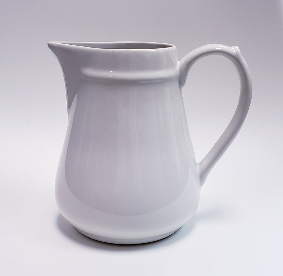 CREATIVE CO-OP Vintage Reproduction White Pitcher