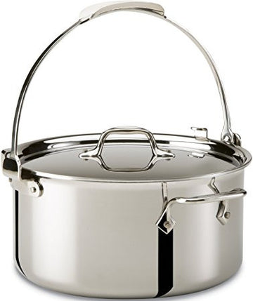 ALL-CLAD, D5,  Stock Pot, 7 Qt.