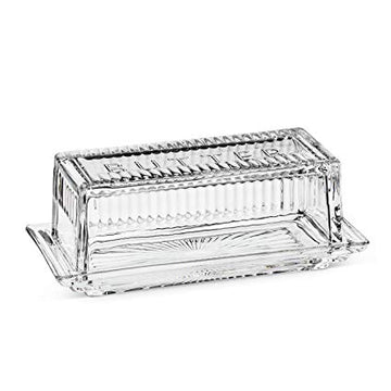 ABBOTT Glass Butter Dish, 1/4 lb
