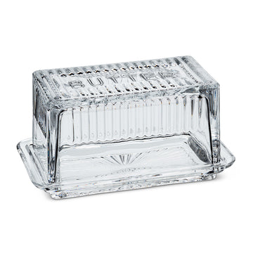 ABBOTT Butter Dish, glass, one pound