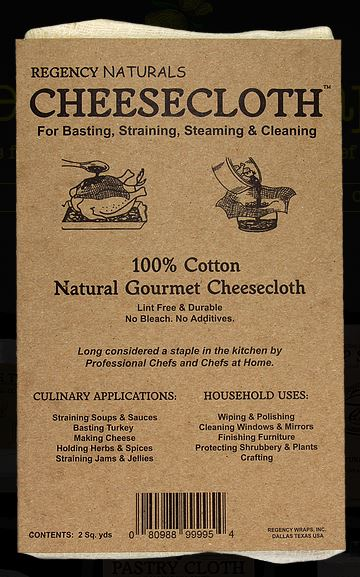 REGENCY NATURALS, Cheesecloth, Ultra Fine, 100% Cotton