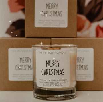 THE 6TH SCENT CANDLE Merry Christmas Soy Candles