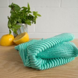 NOW Ripple Dishcloth, 100% Cotton