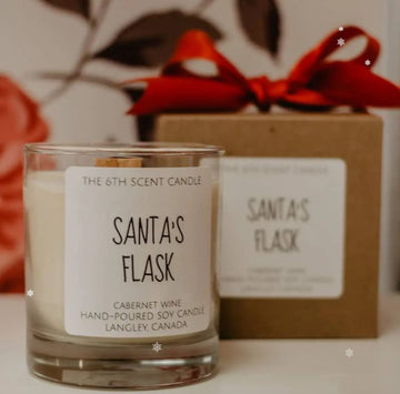 THE 6TH SCENT CANDLE Santa's Flask Soy Candles