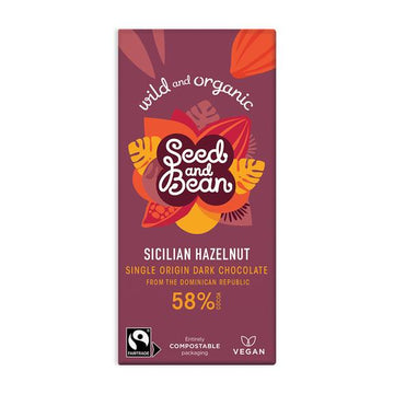 SEED AND BEAN Sicilian Hazelnut Dark Chocolate