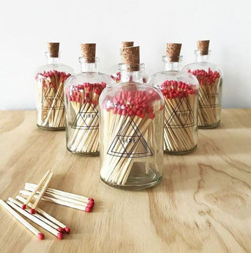 SKEEM Red Matches in Glass Jar