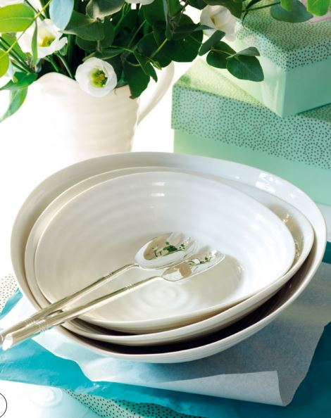 SOPHIE CONRAN Salad Bowls, Set of 3, White