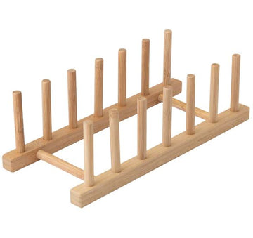 YES CHEF Bamboo Plate Rack