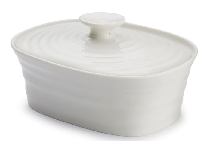 SOPHIE CONRAN Covered Butter Dish, White