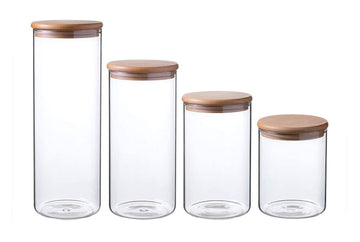 SIMAX Glass Canisters with Beechwood Lids