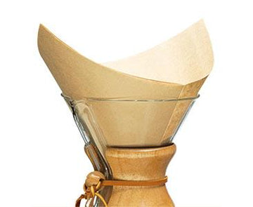 CHEMEX Coffee Filters, Natural Squares