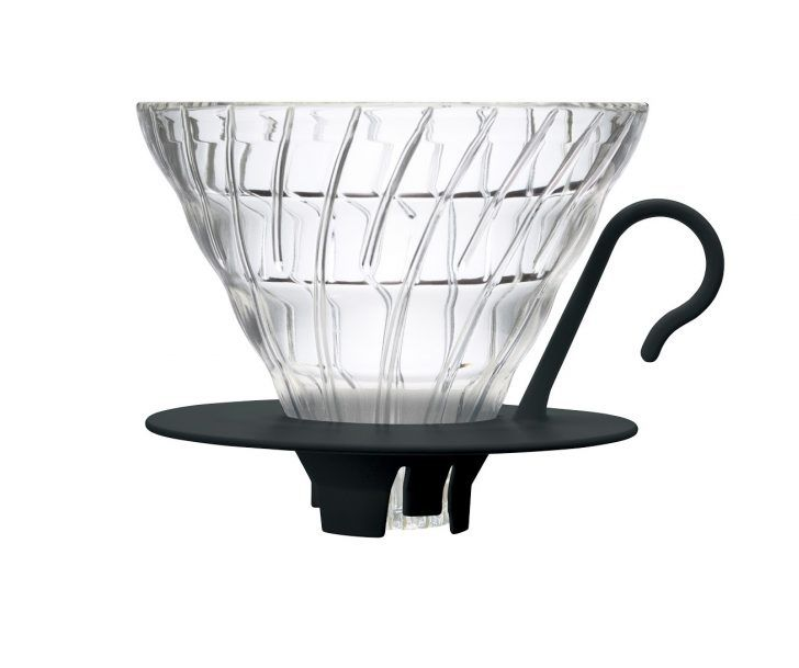 HARIO V60 Glass Drippers, Black