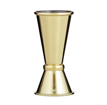 FINE FOODS Double Jigger with Gold Finish