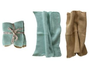 CREATIVE CO-OP Cotton Knit Dishcloth Set