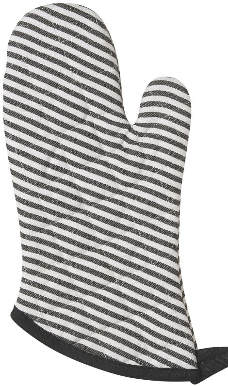 NOW DESIGNS Superior Oven Mitt, Black Stripe