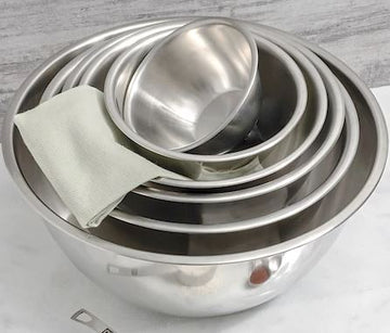FOX RUN Mixing Bowls, Stainless Steel