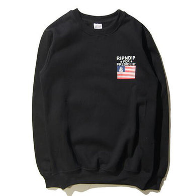 Autumn RIPNDIP Sweatshirts Long Sleeve Casual Cotton Sweatshirt Pocket Cat Brand Clothing Hip Hop Hoodies