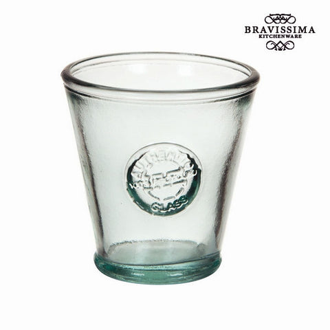 Bravissima Kitchenware - Low Conical Recycled Glass Vase - Country Kitchenware