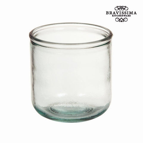 Bravissima Kitchenware - Smooth Low Recycled Glass Vase - Country Kitchenware