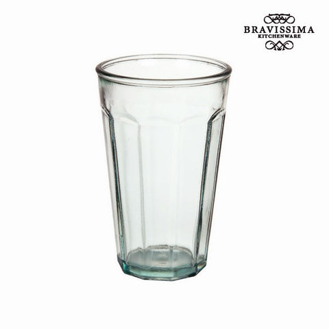 Bravissima Kitchen - Recycled Tall Pure Crystal Glass Vase - Country Kitchenware