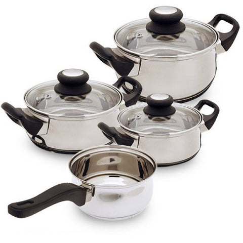Bravissima - 7 Piece Stainless Steel Cookware Set - Country Kitchenware