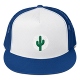 Cactus Trucker Hat - Green on White