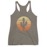 Venetian Grey Cactus and Sunset Tank Top by Cactus Goods