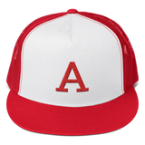 Red A Trucker Hat