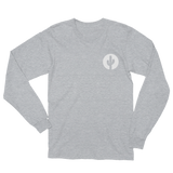 Grey Long Sleeve Saguaro Cactus T-Shirt by Cactus Goods