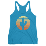 Vintage Turquoise Cactus and Sunset Tank Top by Cactus Goods