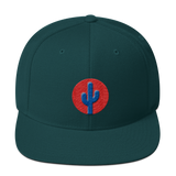 Cactus Snapback - Blue on Red