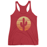 Vintage Red Cactus and Sunset Tank Top by Cactus Goods