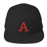 Red A Five Panel Cap
