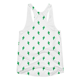 Green Little Cactus Tank Top by Cactus Goods - Back Image