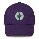 Cactus Dad Hat - Green on White