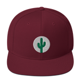 Cactus Snapback - Green on White