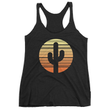 Vintage Black Cactus and Sunset Tank Top by Cactus Goods
