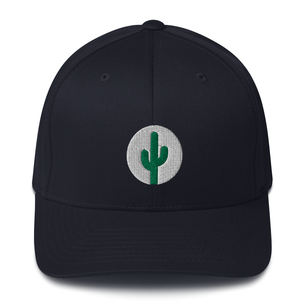 Cactus Flexfit - Green on White