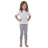 Kid's Cactus Leggings - Heather Grey