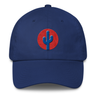 Cactus Dad Hat - Blue on Red