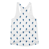Blue Little Cactus Tank Top by Cactus Goods - Back Image