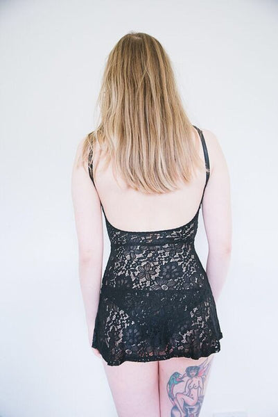 Black lace nightie