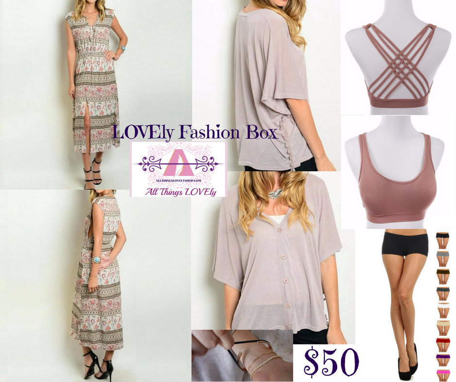 ANNOUNCEMENT!  NOW OFFERING CURATED LOVEly Style Fashion Boxes!