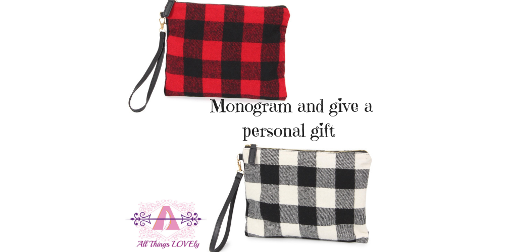 Buffalo Plaid Check Clutches for gift