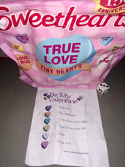 Sweetheart Candy hearts Valentines Day Games to play with kids Things to do kids