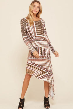 Boho Asymmetrical Dress