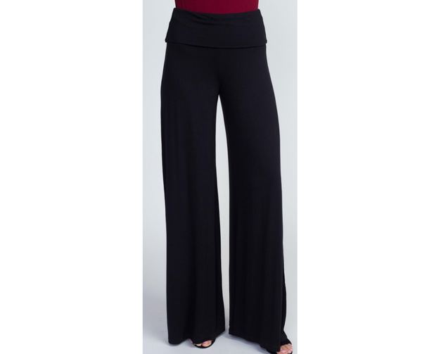 Black Wide Leg Comfy Pants